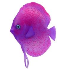 Aquarium Simulation Fake Artificial Glowing Tropical Fish Aquatic Ornament(Purple) - intl