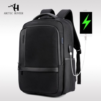ARCTIC HUNTER Waterproof Wear-resistant Nylon 15.6-Inch Laptop Backpack with USB Charging Port