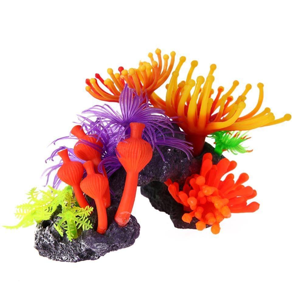 Artificial Resin Coral Plants Fish Tank Aquarium Coral Ornaments Decoration - intl