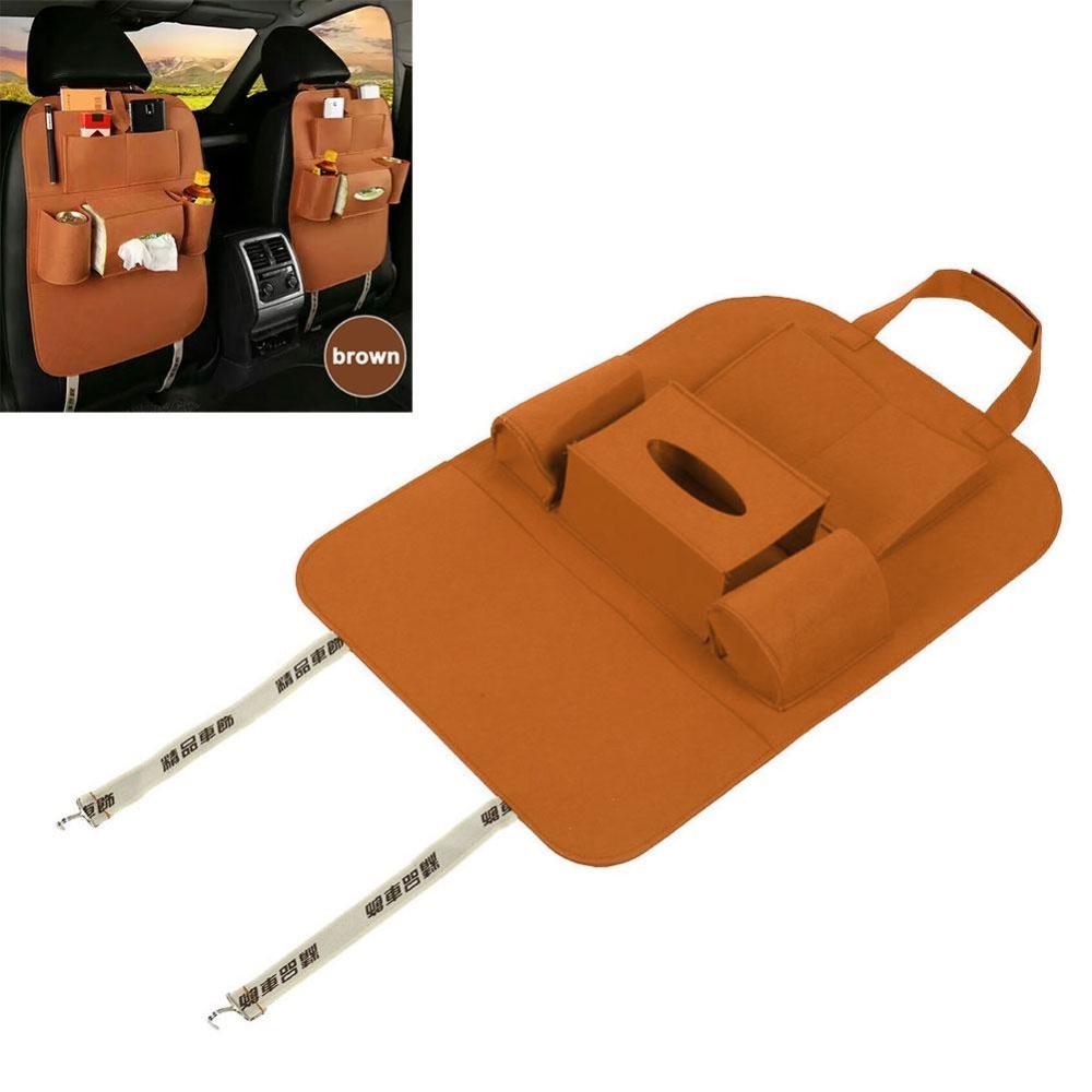 Aukey NEW Car Vehicle Seat Back Multi Cup Organizer Storage Travel Bag Holder .
