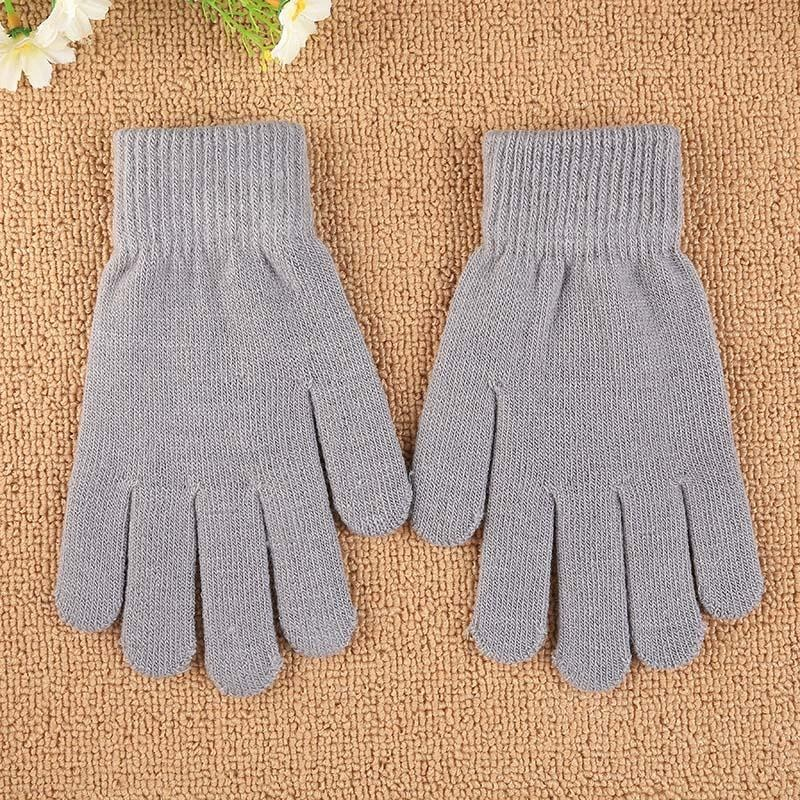 Aukey NEW New Fashion Unisex Women Full Finger Knitted Gloves Mitten Gift Accessorise - intl