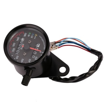 Aukey NEW Universal Dual Odometer Speedometer Nights Lights Motorcycle Modification - intl