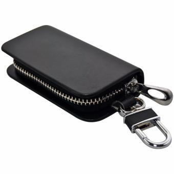 Autorace Dompet STNK Exclusive /Dompet kunci mobil/Dompet kulit Polos - Black - 2