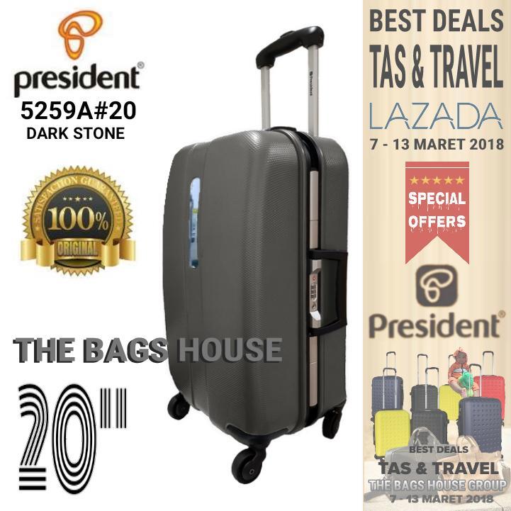 uNiQue Travel Luggage Koper Kabin Hardcase Speedlite 20 inch Biru Muda + FREE Sarung Koper EasyProtect