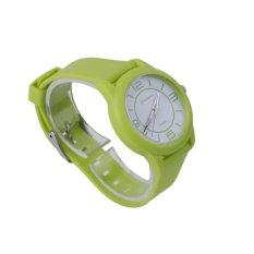 BAIK MINGRUI Kreatif Luxury Wrist Watch Karet Strap QuartzWristWatch 8820 Green (Tidak Ditentukan) (LUAR NEGERI)-Intl