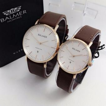 Balmer Original BL7913 - Jam Tangan Couple - Leather Strap [White]