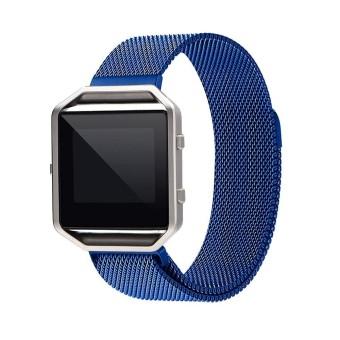 Untuk Fitbit Blaze Menonton 40 Mm Anti Karat Jaring Jam Tangan Tali Bingkai Magnetik Gesper Milanese