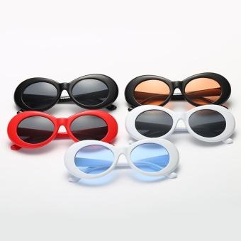 Baru Retro kecil kotak Sunglasses pria dan Women tren Sunglasses - putih kotak Ocean Blue ...