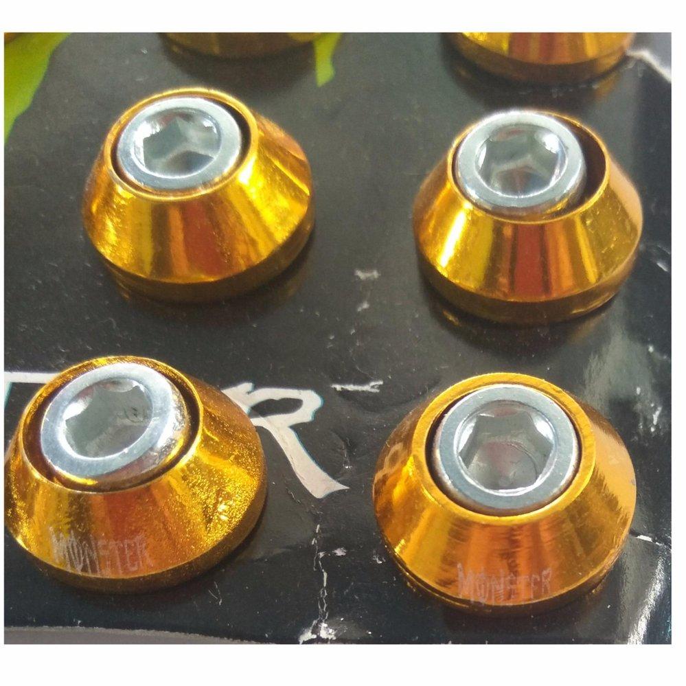 Baut L + Ring Monel Variasi Isi 40pcs Universal - Baut monel Gold .