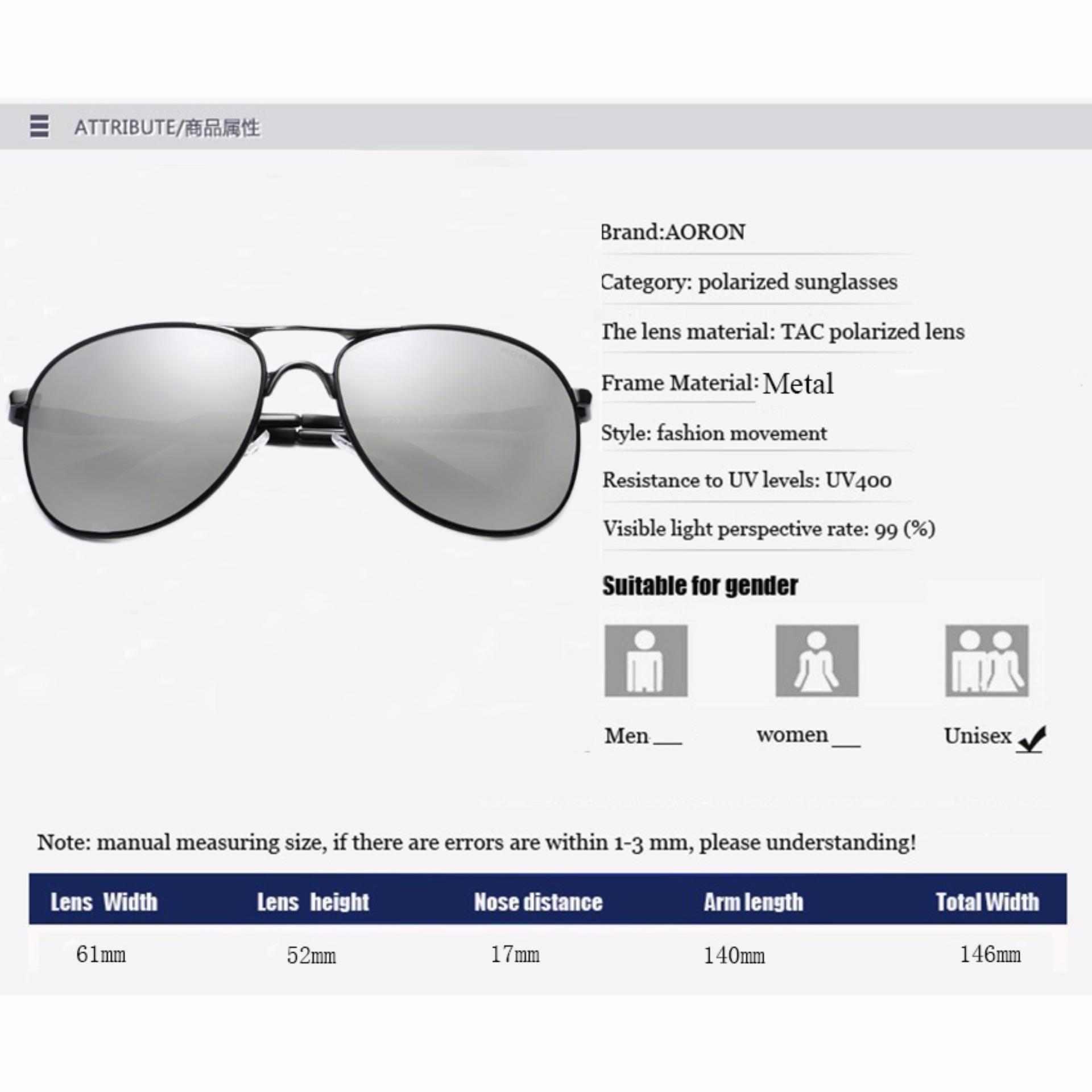 ... [beli 1 gratis 1 Freebie] AORON Fashion Aksesoris kacamata pria terpolarisasi Anti-UV ...
