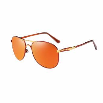 Harga  beli 1 gratis 1 Freebie  AORON Fashion Aksesoris kacamata pria  terpolarisasi Anti UV P8722 (merah teh) Terbaru klik gambar. e434534678