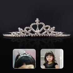 ... Bando Mahkota Silver Love Aksesoris Rambut Wanita Elegan Untuk