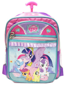 BGC Disney My Little Pony Pinkie Best Friends 3 Kantung Tas Troley Sekolah Anak Sekolah TK - Purple Pink Green 2