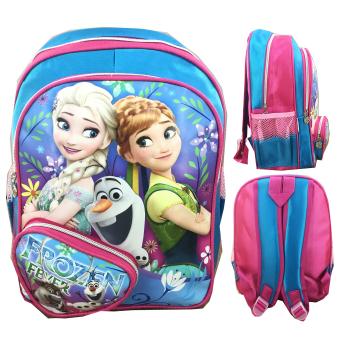 BGC Frozen Fever Elsa Anna 3 Kantung Tas Ransel Sekolah Anak TK