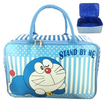 BGC Travel Bag Kanvas Doraemon Stand By Me - Blue White