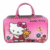 BGC Travel Bag Kanvas Hello Kitty Flower Ribbon - Black Pink - 2 ...