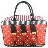 BGC Travel Bag Kanvas London Prajurit - Black Red - 2