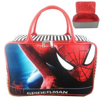 BGC Travel Bag Kanvas Spiderman Climbing - Black Red