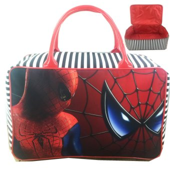 BGC Travel Bag Kanvas Spiderman Spidey - Black Red