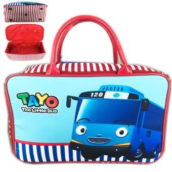 BGC Travel Bag Kanvas Tayo Bus - Blue White