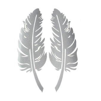 Bigskyie Baru Desain Bulu 3D Dekorasi Stiker Untuk Kaca SpionSamping Mobil Putih