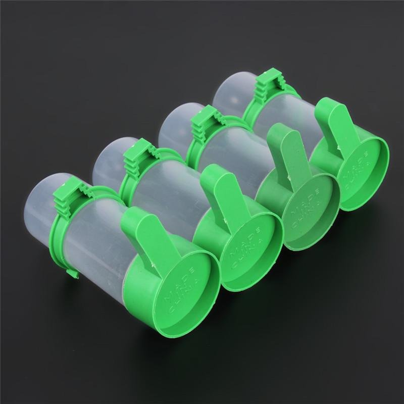 Bird Pet Drinker Feeder Waterer Clip for Aviary Budgie CockatielLovebird Bird Feeder Farming Equipment 4pcs/lot - intl