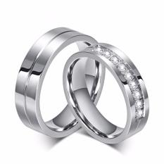 (Bisa Bayar Di Tempat) cincin couple / cincin kawin / Cincin Tunangan titanium original cc035