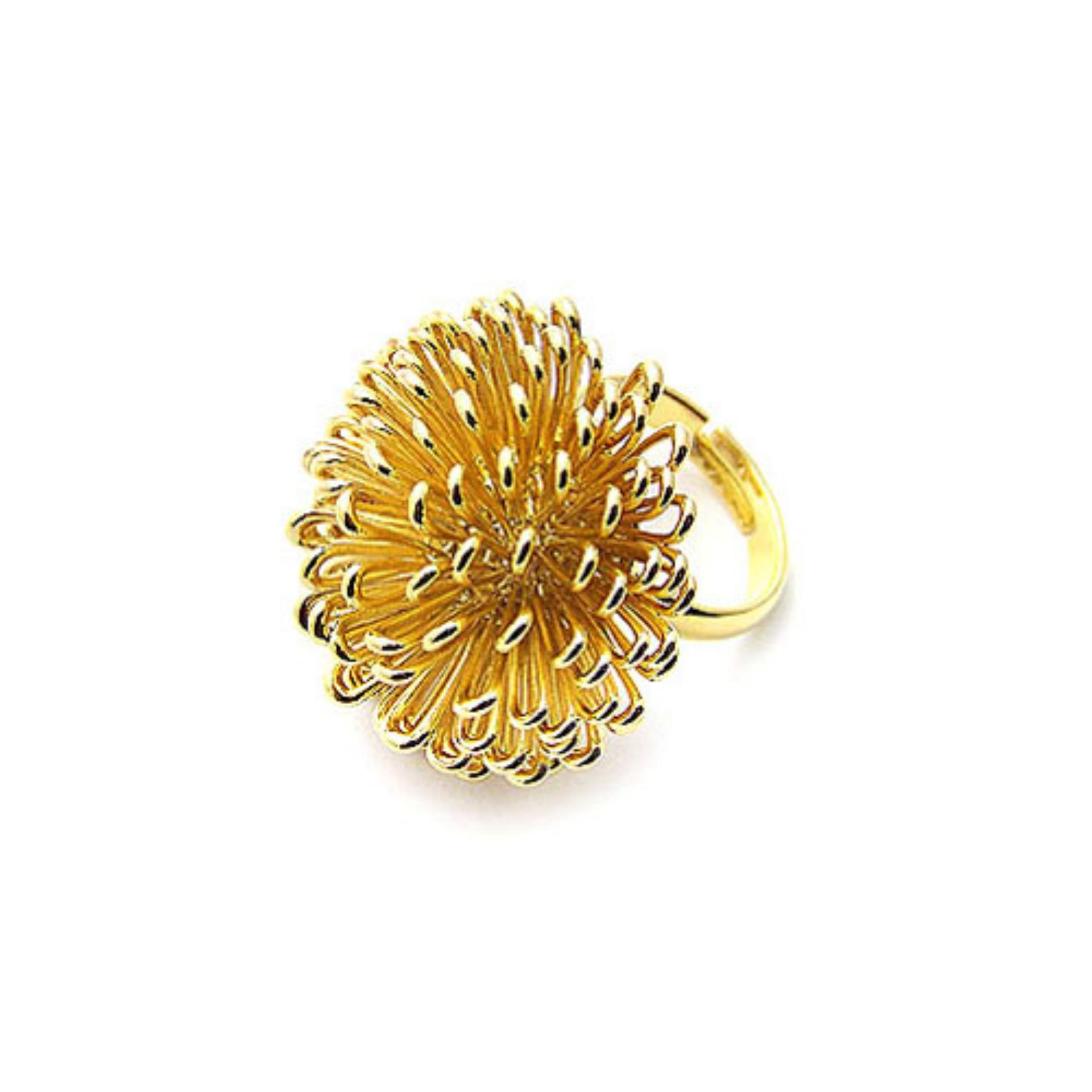 Bella Co Ring Kzcr417 A 7 Aksesoris Perhiasan Cincin Lapis Emas Tiaria Kzcr328 8 Blink Model Bunga Dandelion