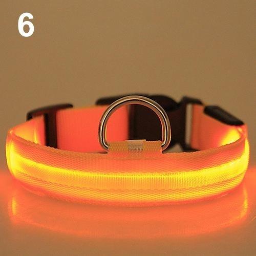 Bluelans(R) Adjustable Nylon Night Safety LED Flashing Glow Neck Strap Puppy Pet Dog Collar S (Yellow) - intl