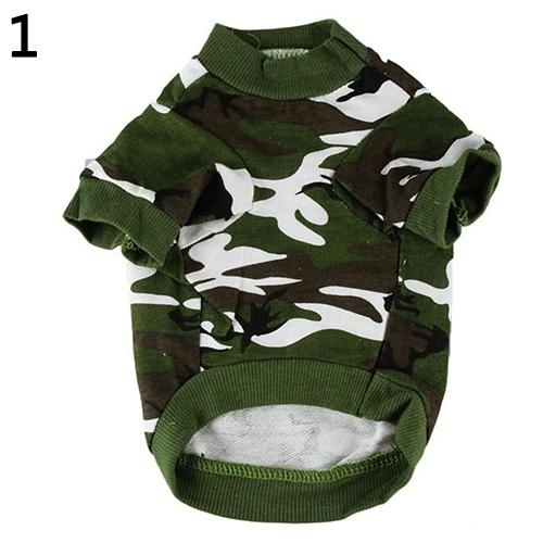 Bluelans(R) Pet Spring Autumn Cute Cool Camouflage Cotton Vest Cat Dog Puppy Apparel Clothes S (Army Green) - intl