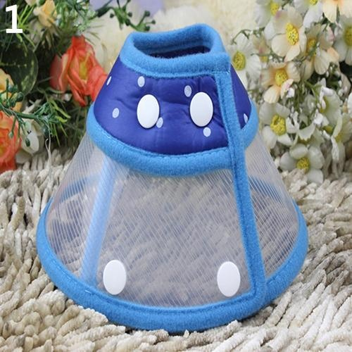 Bluelans(R) Puppy Pet Dog Cat Comfy Cone Neck Collar Anti-Bite Medical Recovery Protection M (Blue) - intl