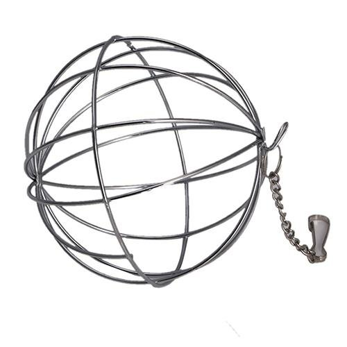 Bluelans(R) Stainless Steel Sphere Ball Pet Pig Hamster Rabbit Rat Feed Dispenser Play Toy - intl