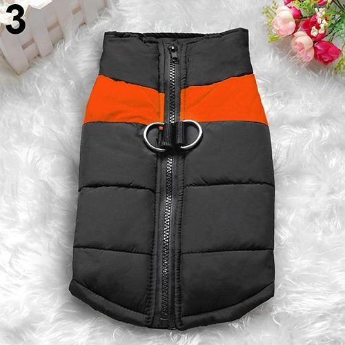 Bluelans(R) Winter Warm Dog Padded Zipper D-Ring Coat Pet Skiing Clothing for Large Dog 2XL (Orange) - intl