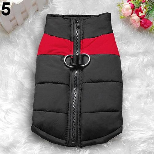 Bluelans(R) Winter Warm Dog Padded Zipper D-Ring Coat Pet Skiing Clothing for Large Dog 3XL (Red) - intl