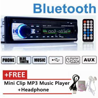Bluetooth Stereo Radio Mobil MP3 Player Di Dash Kepala Unit 1Din USB/SD AUX FM 12 V JSD-520 Gratis Hadiah Mini MP3-Intl
