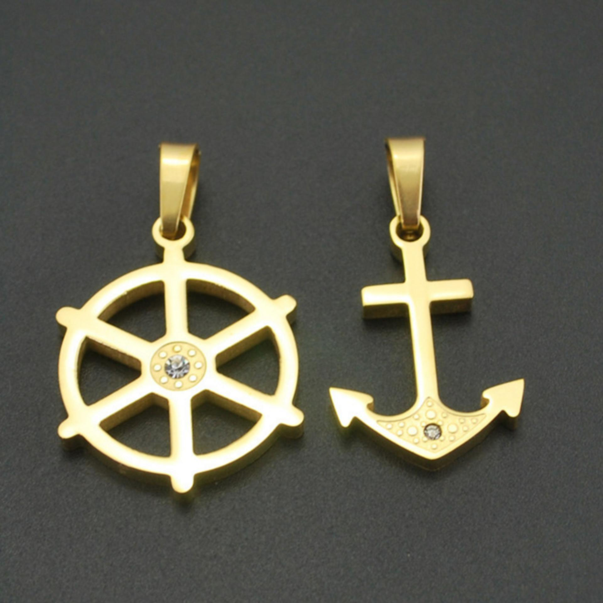 ... Boat Anchor Couples Necklaces Navy Style Accessories with TitaniumStainless Steel No Fade Lovers