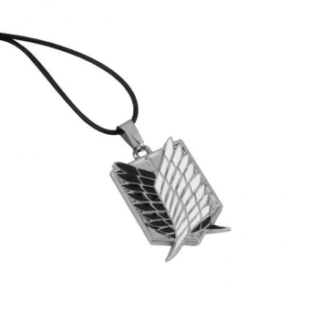BolehDeals Attack on Titan Wings of Freedom Pendant Necklace ErenJaeger Key Necklace - intl - 2