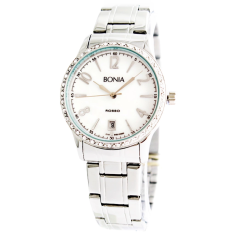 BONIA B210065 - Jam Tangan Wanita - Putih - Stainless Steel