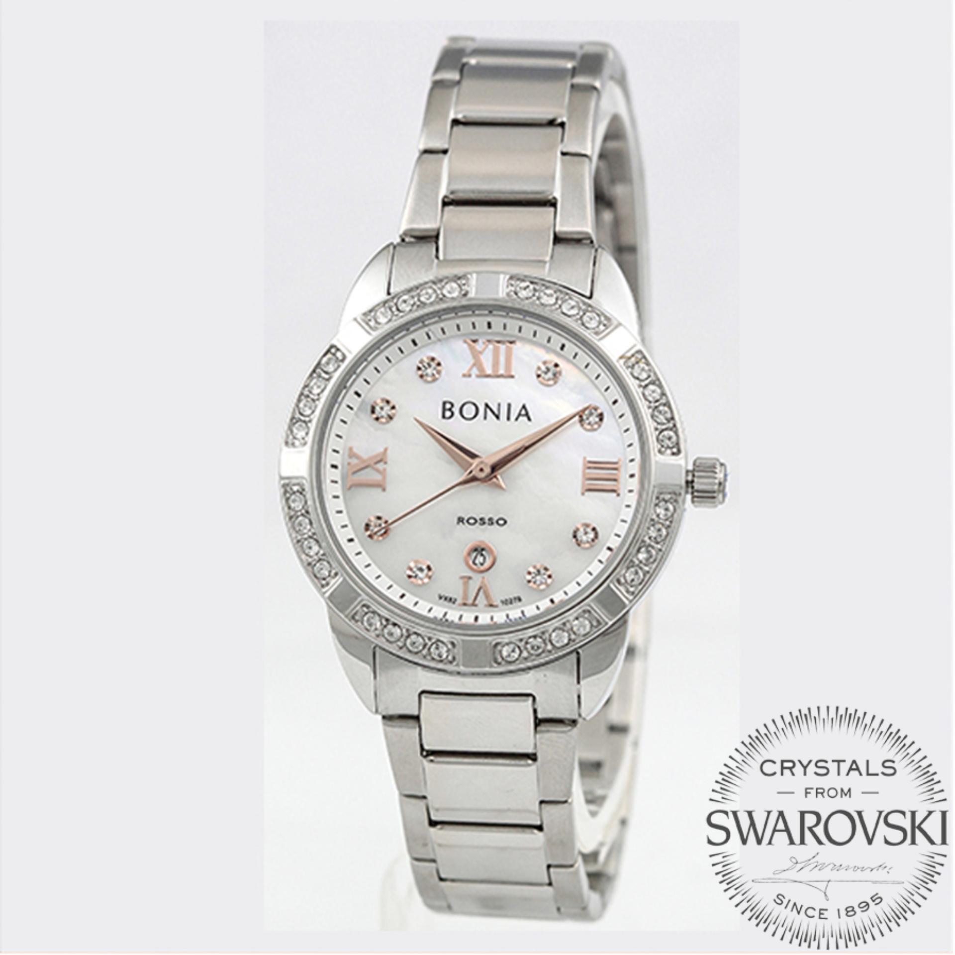 Bonia Jam Tangan Wanita Silver Putih Stainless Steel Bpt223 2303s B10099 2117 Gold Bn10278 2353s