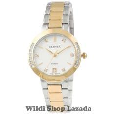 Bonia BNR100-2117S Jam Tangan Wanita Stainless Steel Silver Gold