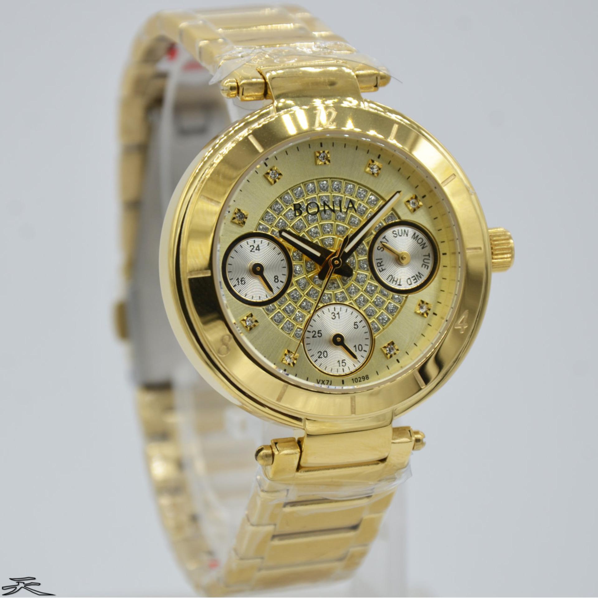 Belanja Terbaik Bonia Rosso Bnb10298 2227 Jam Tangan Wanita Gold Bn10298 2317