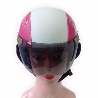 Broco Helm Anak anak broco retro kaca riben lucu usia 1 sampai 4 tahun Motif Hello