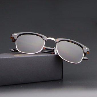 Bruno Dunn Brand women men clum party polarized sunglasses 51mm 3016 (leopard frame tea lense) - intl ...