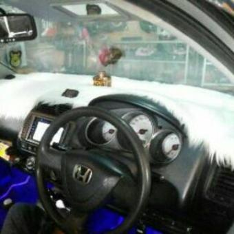 Bulu Dashboard Impor Korea Warna putih / alas dashboard warna putih salju / cover dasbor warna