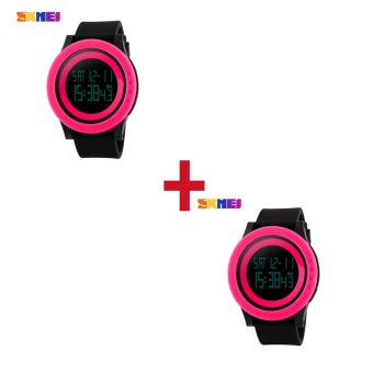[Buy 1 Get 1 FREE] Top brand SKMEI 1142 Rubber Strap Waterproof Fashion Casual
