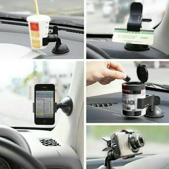 car holder universal di mobil / hp/gopro/actioncam/kartu/botol/
