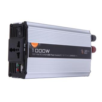 Mobil truk DC 12 V arus AC 220 V 1000 Watt Charger Adaptor konverter Inverter tenaga