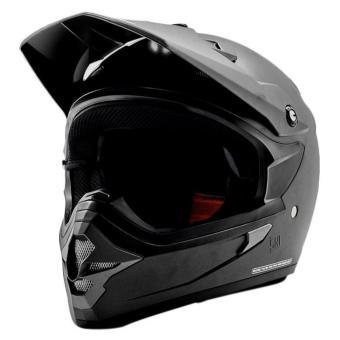 Cargloss MXC Motorcross Oackley Helm Full Face - Gun Metal SG