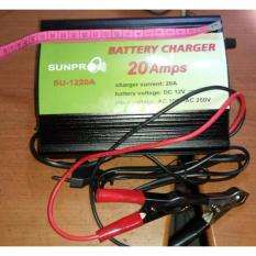 Cas Aki Otomatis / Charger Accu, Aki Kering, Basah, Mobil, Motor, dll, Sunpro BATTERY CHARGER 20 Ampere