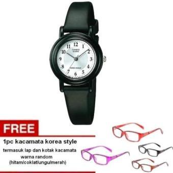 Casio Analog Watch Jam Tangan Wanita - Hitam - tali karet - petite size LQ-